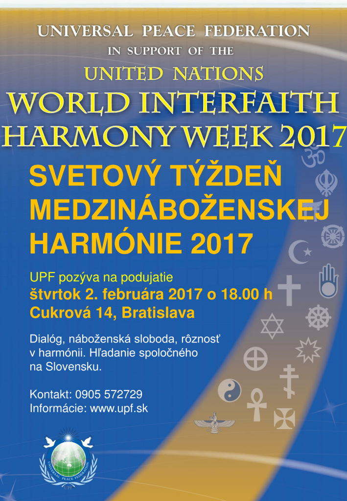 Interfaith Harmony Week 2017